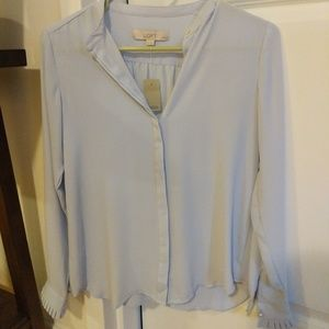 LOFT button down blouse